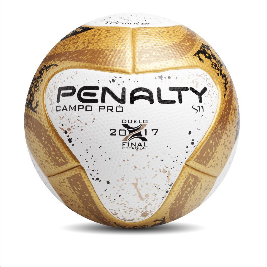 1d57d4ebb3 A Penalty anunciou uma novidade para as bolas das finais de onze  campeonatos estaduais. A bola S11 Campo Pró vai ganhar uma versão dourada  para os duelos ...